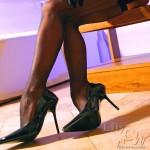 sexy shiny heels stockings