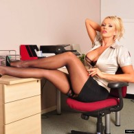 Smoking blonde British babe Lucy Zara looking all fine and sexy, just another day at the office! wish I worked at this office then again I'd probably get nothing done...