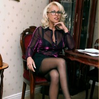 Sexy British MILF Leggy Lana rocking some black stockings in 2 for 1 sets! Showing off her nice legs and very pretty nylon feet! Check her out guys, she loves...