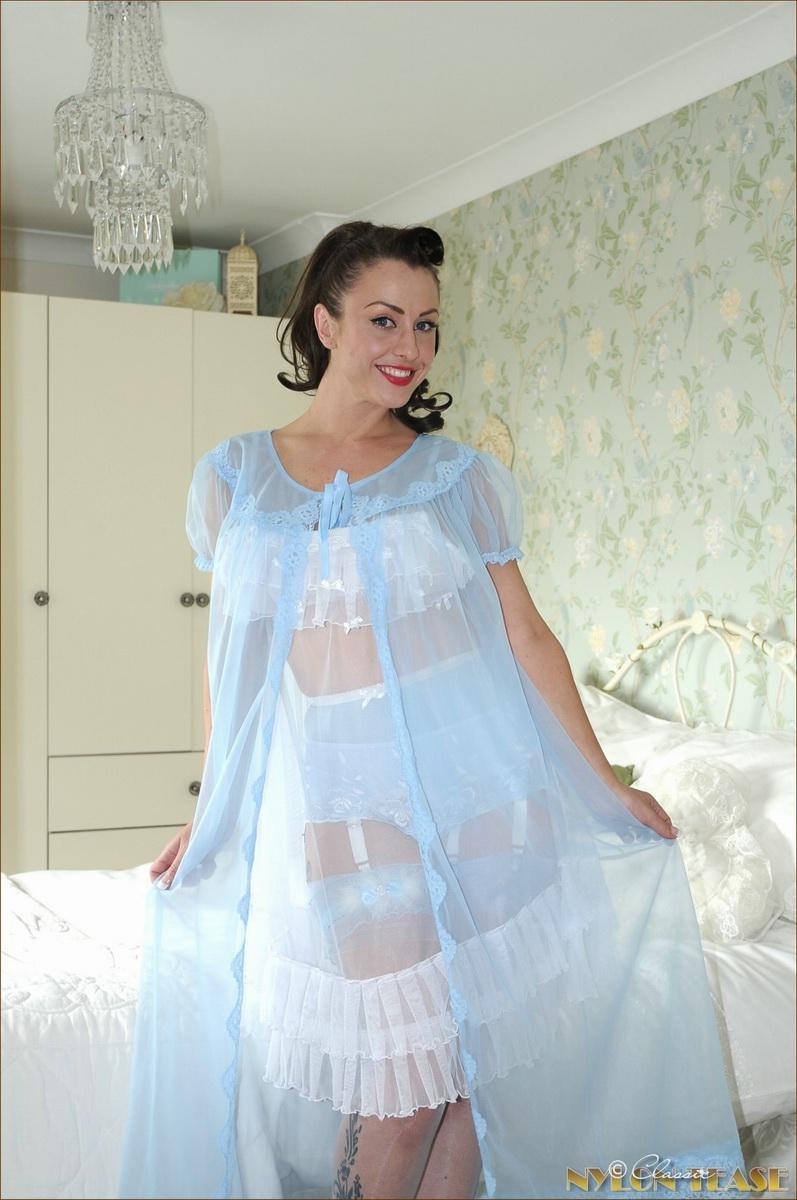 Sexy satin nightgown porn