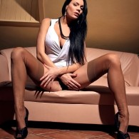 Here we have a black hair hottie, her name is DeeDee and she is from the site True Nylon and man does have a nice set of legs! If you...