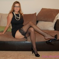 Shaved nylon stockings
